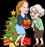 Kerstcadeau voor Oma