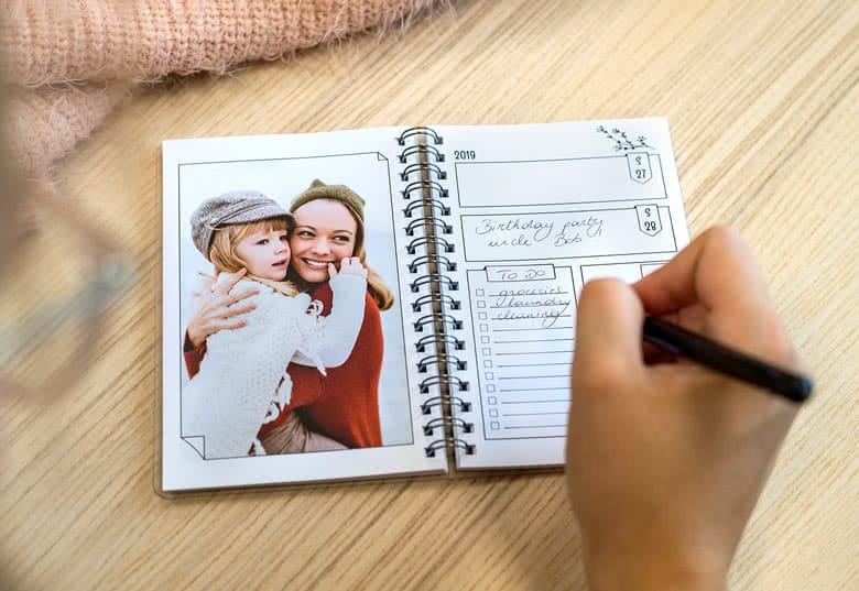 agenda met eigen foto's - cadeau voor oma