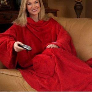 warme deken met mouwen - cadeau voor oma