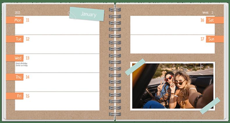 foto agenda - agenda met eigen foto's maken