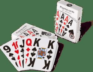 cadeau voor een oudere vrouw - extra grote speelkaarten