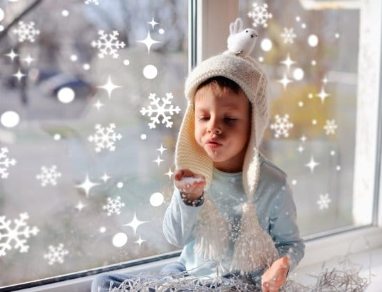 raamstickers sneeuwvlokken Kerstmis