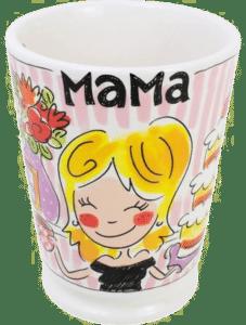 cadeau voor moeder 75 jaar - blond amsterdam vrolijke mama mok