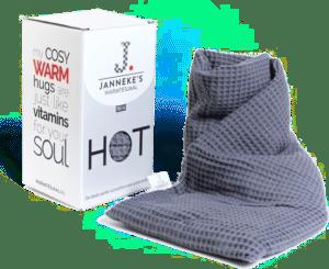 Kersenpitkussen in de vorm van sjaal - cadeau voor senioren