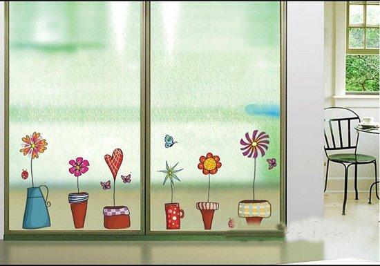 cadeau voor oma 90 jaar - raamstickers bloemen