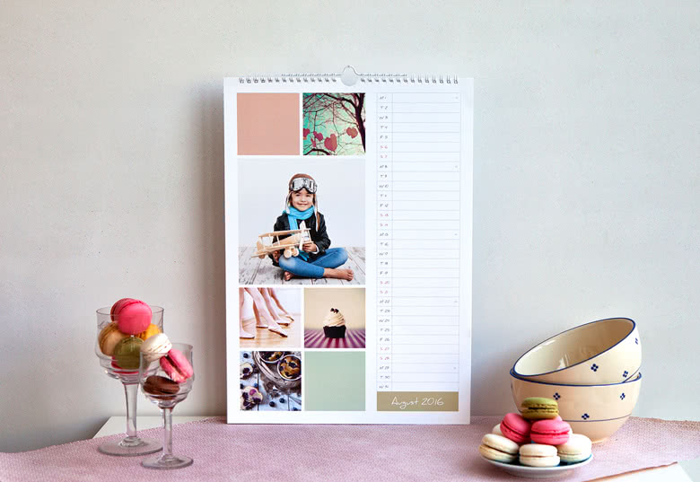 agenda kalender eigen foto's