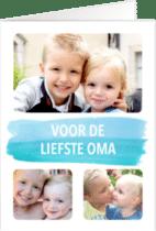 kaartje naar Oma sturen - met foto van de kleinkinderen