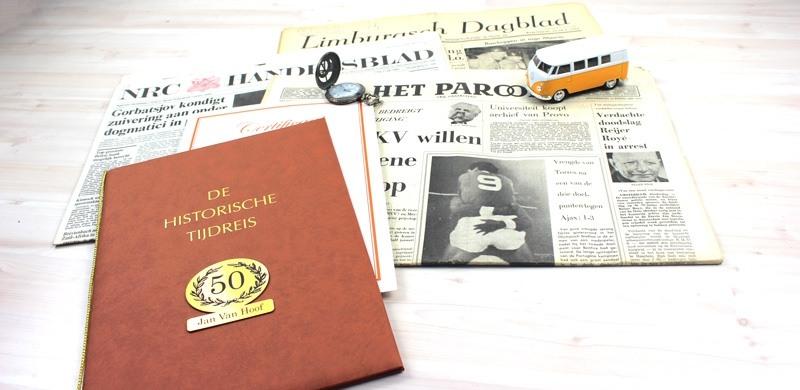 krant van vroeger - cadeau voor oma