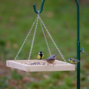 hangende voedertafel vogels - cadeau oma 80 jaar