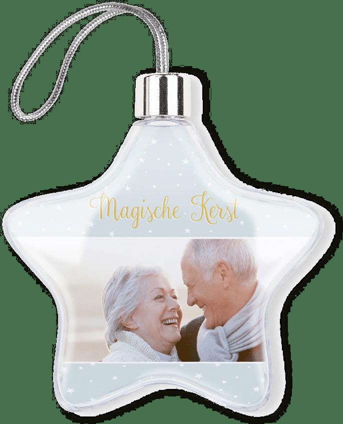 kerstbal met foto - kersthanger - cadeau voor oma