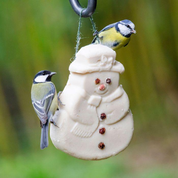 kleinigheidje voor kerst - vettraktatie sneeuwman
