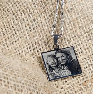 Hangertje foto vierkant zilverkleurig