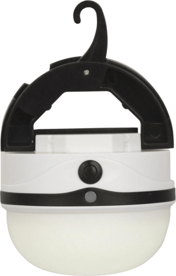 cadeau voor op de camping - compact lampje met ophanghaak