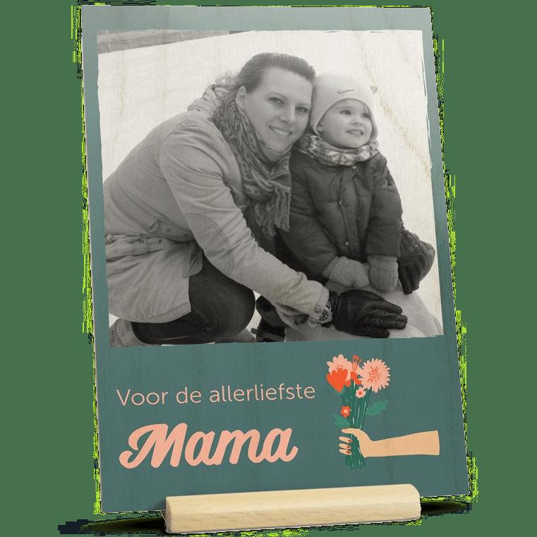 Moederdag cadeau voor Oma - houten kaart