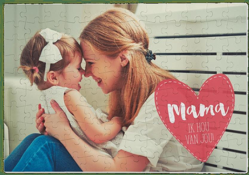 moederdagcadeau - puzzel met eigen foto