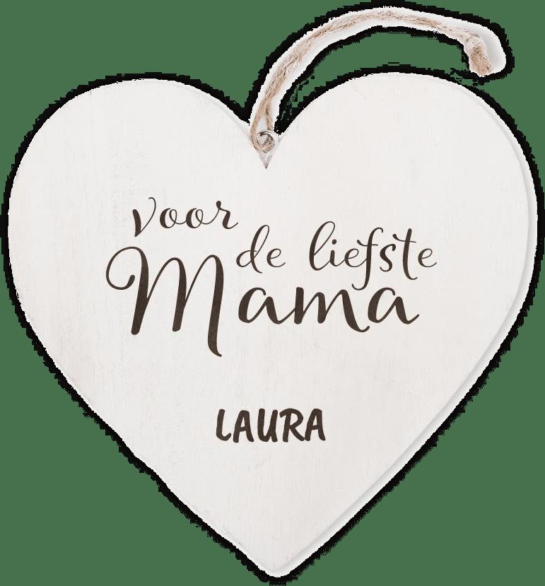 moederdagcadeau voor oma - houten hart