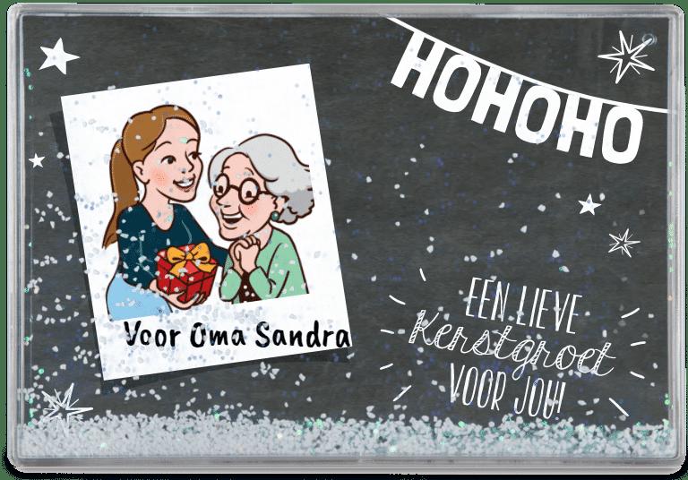 kerstcadeau voor Oma - sneeuwblok