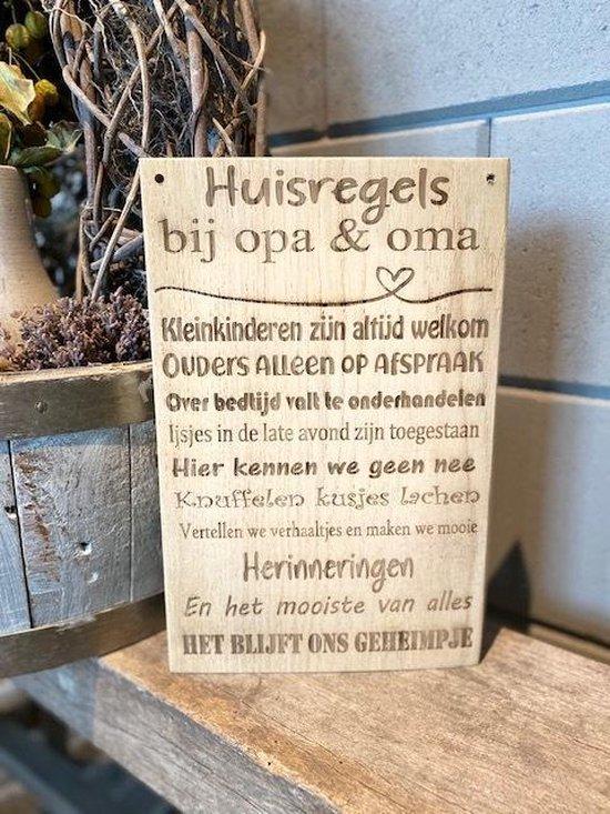 cadeau voor een aanstaande opa en oma - tekstbord opa oma