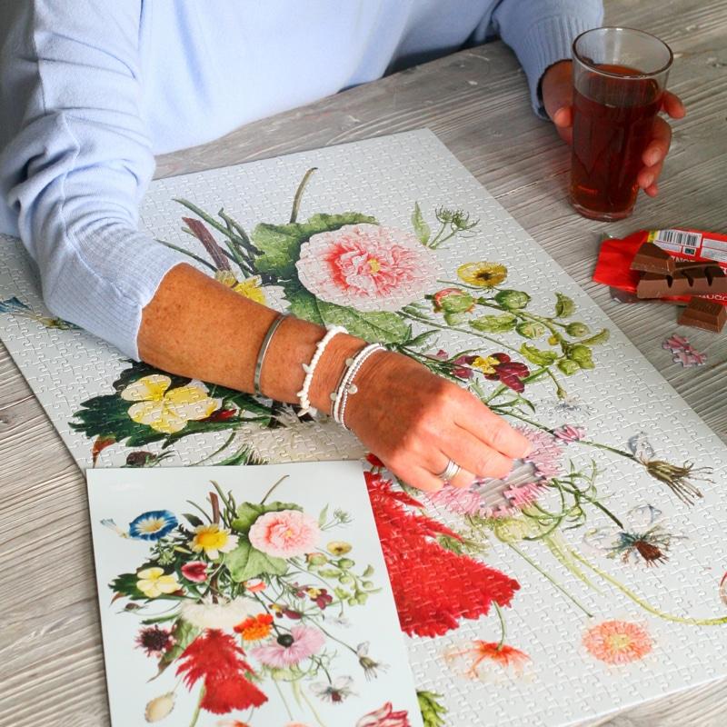 brievenbuscadeau - bloemen puzzel