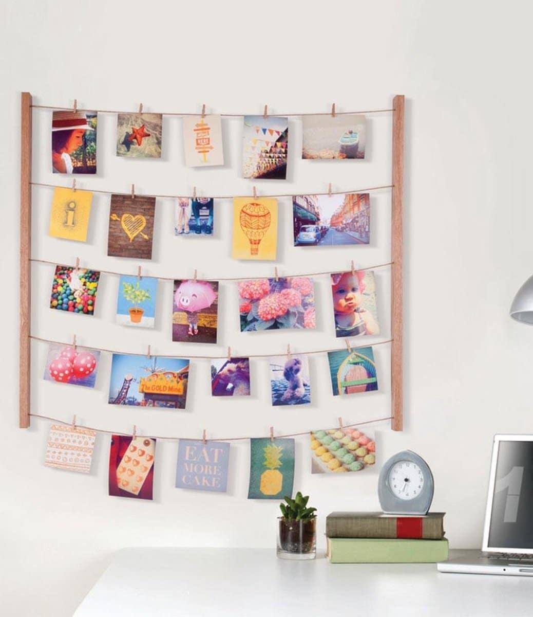 Cadeau voor Oma - Fotocollage met knijpers