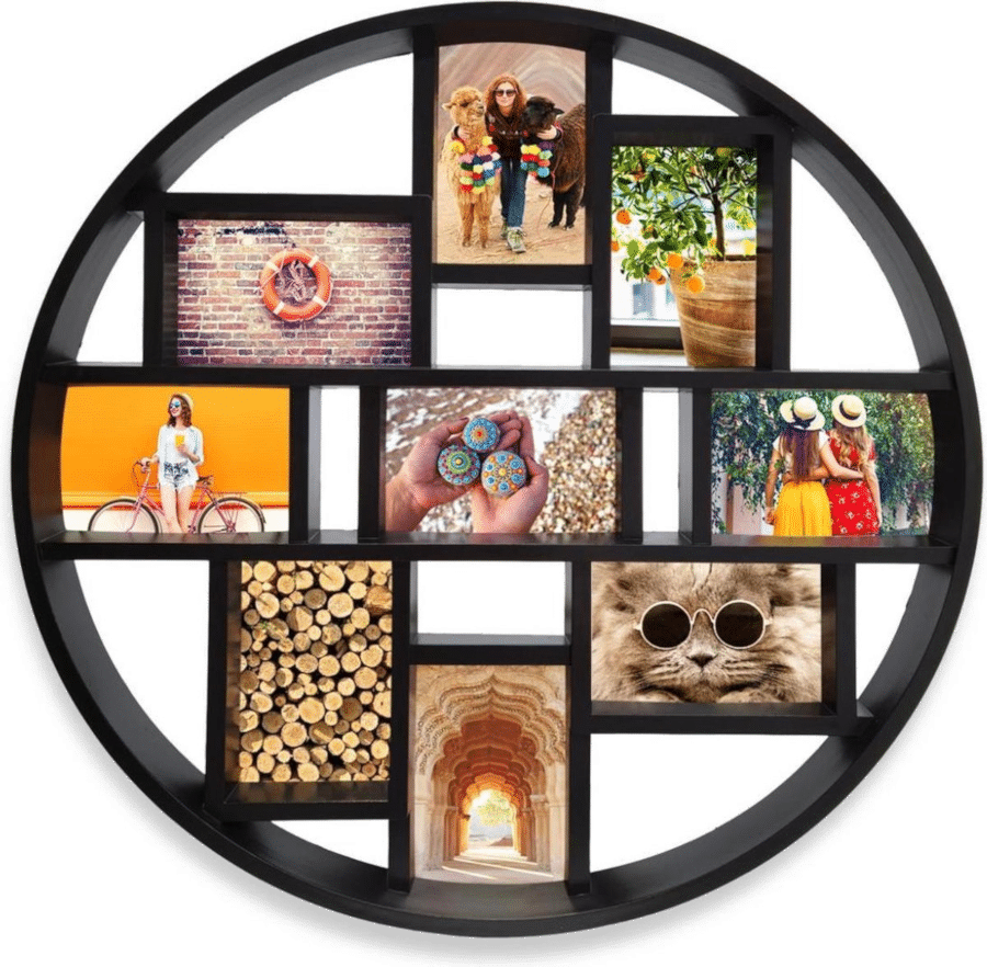 Fotocollage voor Oma - Ronde collagelijst foto's