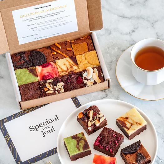 Brownies per post - Brievenbuscadeau voor Oma