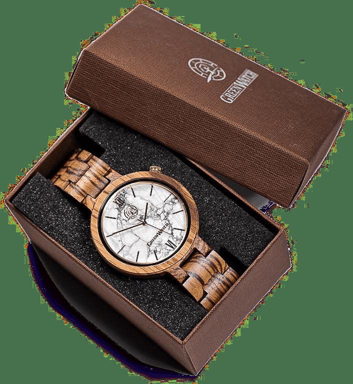 greenwatch houten horloge voor een dame