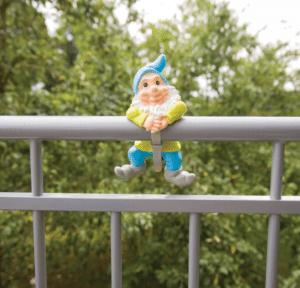 Tuinkabouter speciaal voor het balkon - cadeau voor een oudere dame