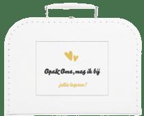 Cadeau om je ouders te vertellen dat je zwanger bent - kinderkoffertje