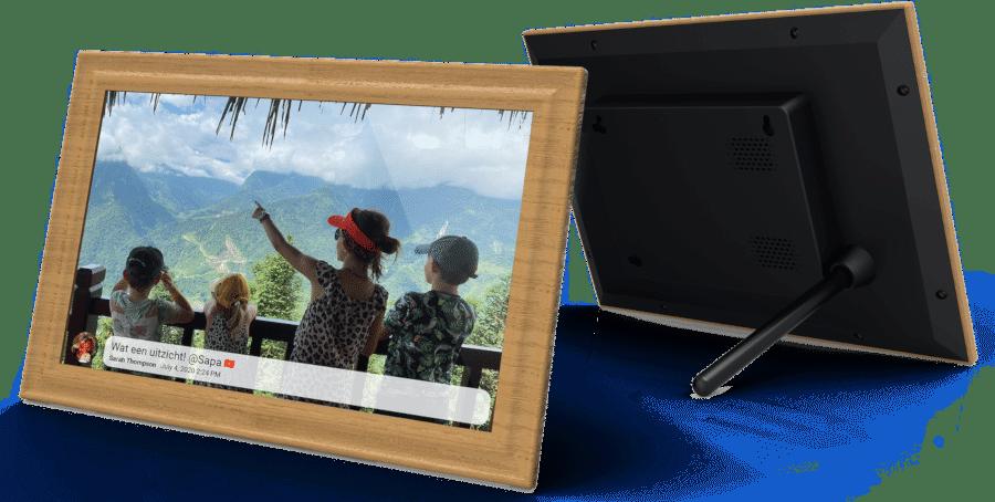 Mooi cadeau voor Oma - fotolijst rechtstreeks fotos delen
