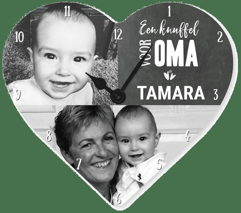 klok met eigen fotos - leuk cadeau voor oma's verjaardag