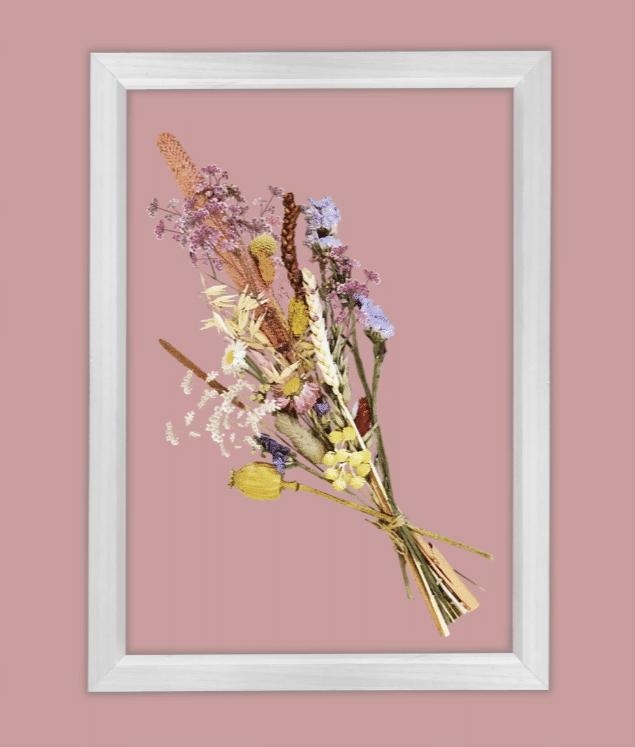 cadeau voor een 80-jarige vrouw - droogbloemen in lijst