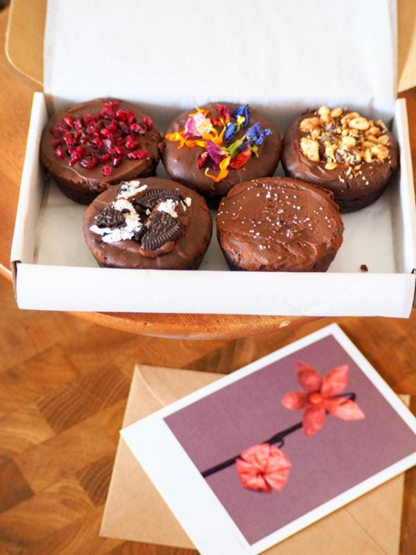 brownies per post - cadeau vrouw 80 jaar
