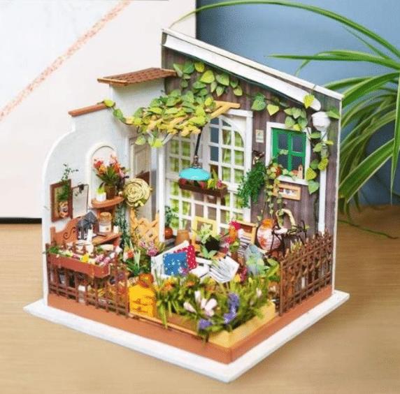 knutselen voor volwassenen - bloementuin - cadeau voor oma